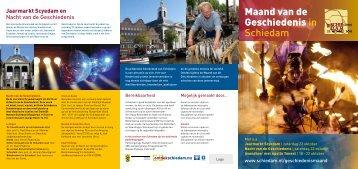 Maand van de Geschiedenis in Schiedam