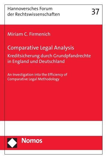 Comparative Legal Analysis - Nomos