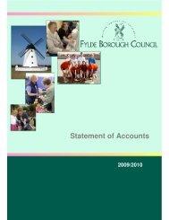 Statement of Accounts - Fylde Borough Council