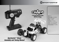 Sportwerks™ Chaos Assembly and Tuning Manual - E-flite