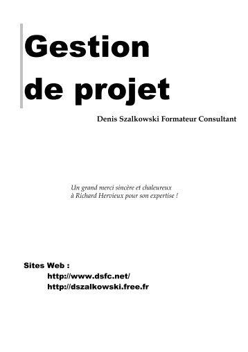 Gestion de projet - Denis Szalkowski Formateur Consultant