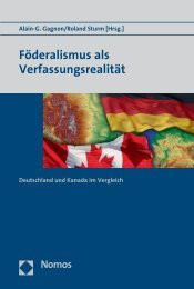 Föderalismus als Verfassungsrealität - Nomos
