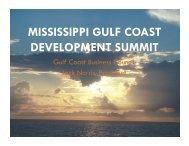 mississippi gulf coast development summit - Gulfport-Biloxi ...