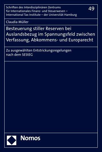 Besteuerung stiller Reserven bei Auslandsbezug im ... - Nomos