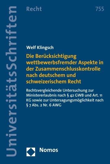Welf Klingsch Welf Klingsch - Nomos
