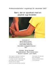 [pdf] Børn, der er opvokset med en psykisk syg forælder