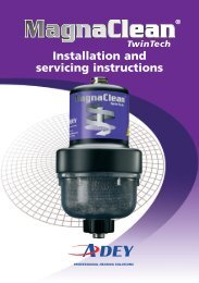 Installation and servicing instructions - Plumb Traders