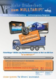vision systems for drivers´ assistance. - MEKRA Lang