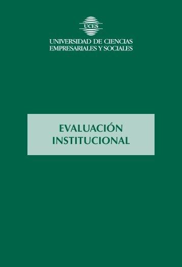 Acerca de la Evaluación Institucional - UCES
