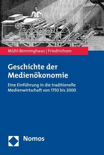 Geschichte der Medienökonomie - Nomos