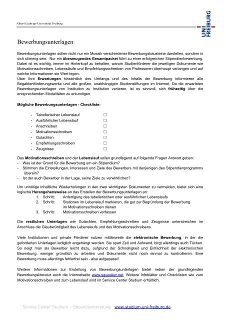 Bewerbungsantrag Universitatsklinikum Freiburg 12
