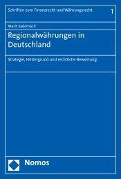 Regionalwährungen in Deutschland - Nomos