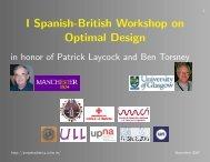 I Spanish-British Workshop on Optimal Design
