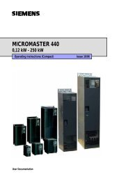 MICROMASTER 440 - Siemens AS