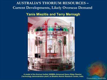 Australia's thorium resources - Geoscience Australia