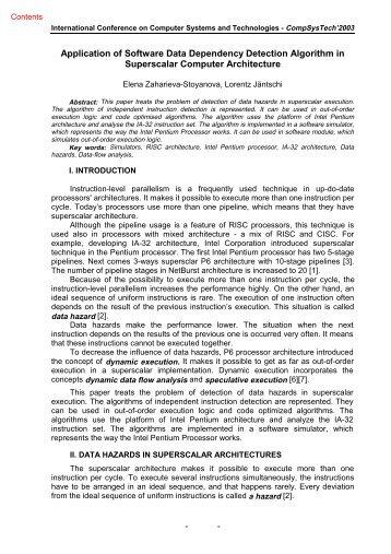Application of Software Data Dependency Detection Algorithm ... - Ecet