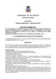 Bando FTO - Comune di Alassio