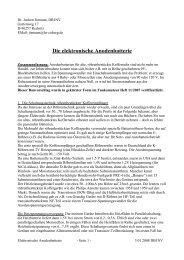 Die elektronische Anodenbatterie - Nonstop Systems