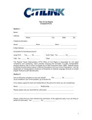 Title VI Civil Rights Complaint Form Section I Name ... - Citilink