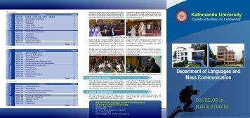 Electronic Brochure - Kathmandu University
