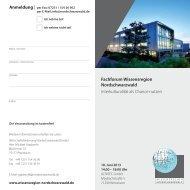 Flyer Wissensregion - SRH Hochschule Calw