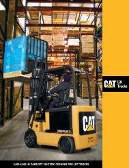 3,000-6,500 lb CapaCity ElECtriC Cushion tirE lift truCks