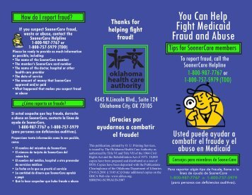 You Can Help Fight Medicaid Fraud and Abuse - The Oklahoma ...