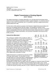 Digital Transmission of Analog Signals