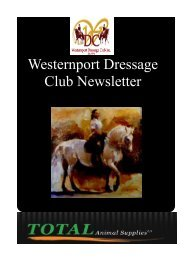 March Newsletter - the Westernport Dressage Club
