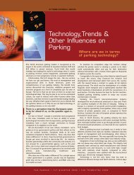 Technology,Trends & Other Influences on Parking - Canadian ...