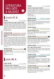 literatura pro děti a mládež (78 kb, soubor *pdf) - Svět knihy 2012