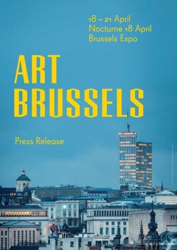 18 – 21 April Nocturne 18 April Brussels Expo Press ... - Art Brussels