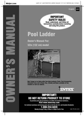 Product Manual For Intex Ultra Frame Swimming Pool Pdf Meijer