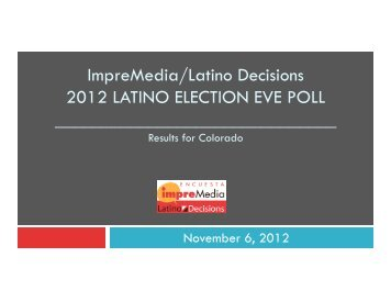 Colorado - Latino Decisions