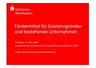Vortrag Fördermittel WFG - Wirtschaftsförderung Wetterau GmbH