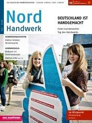 10 deutscHland ist HandgemacHt - Nord-Handwerk