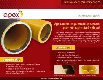 Camisas y Adaptadores Flexográficos - Apex-groupofcompanies.com