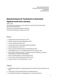 Bedeutende Bauten der Textilindustrie in  Deutschland Significant ...