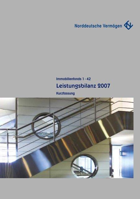 Leistungsbilanz 2007 - Norddeutsche Vermögensanlage