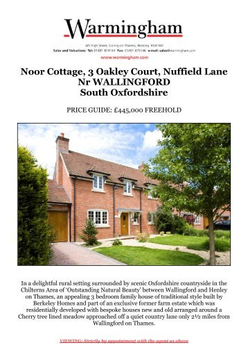 Noor Cottage, 3 Oakley Court, Nuffield Lane Nr ... - Warmingham