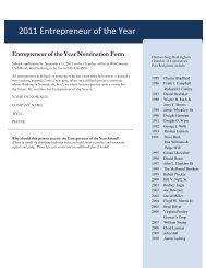 2011 Entrepreneur of the Year