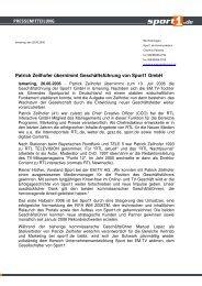 Patrick Zeilhofer übernimmt Geschäftsführung von Sport1 GmbH