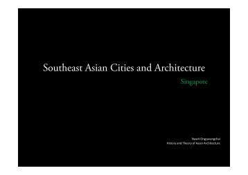 Southeast Asian Cities and Architecture