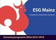 Semesterprogramm WS13-14 - ESG