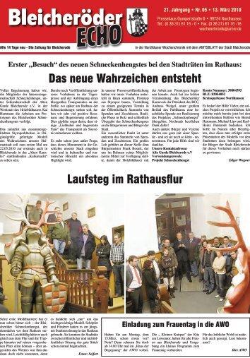 """Erster """"Besuch"""" - Nordhäuser Wochenchronik"""