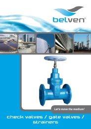 check valves / gate valves / strainers