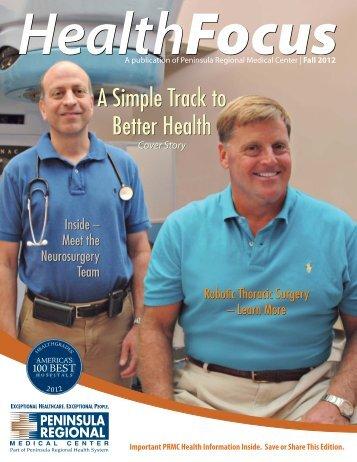 HealthFocus — Fall 2012 issue - Peninsula Regional Medical Center