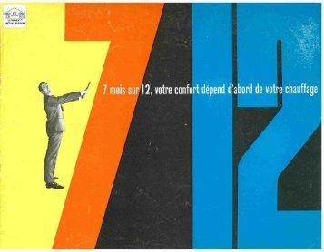FRANCIA 1960 : chaudière - Ultimheat