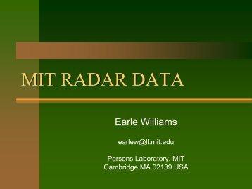 MIT Radar data - AMMA