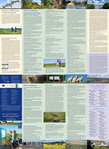 Rad- und Freizeitkarte Nordfriesland  Nord - Nordfriesland Tourismus